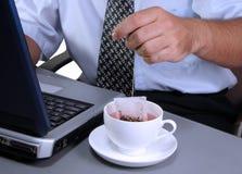 企业茶时间 免版税库存照片