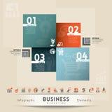 企业营销概念图表元素 库存图片