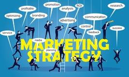 企业营销配合战略概念 向量例证