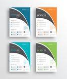 企业营销飞行物/brochure/poster/和报道设计模板 皇族释放例证