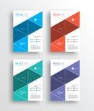 企业营销飞行物/brochure/poster/和报道设计模板 库存例证