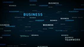 企业蓝色的主题词 库存例证