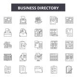 企业行名录线象,标志,传染媒介集合,概述例证概念 皇族释放例证