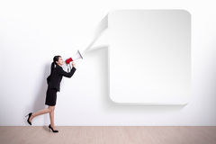 企业表达式沮丧的叫喊的妇女 库存图片