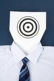 企业表面纸张目标 库存照片
