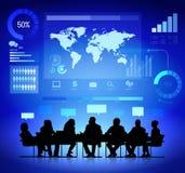 企业规划分析家传染媒介 免版税图库摄影