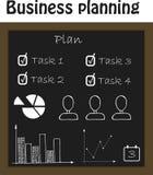 企业规划构想、简单设计图的,图和infographics 免版税图库摄影
