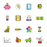 企业规划象设置了动画片 库存图片