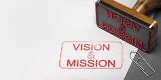企业视觉和任务供述 免版税图库摄影