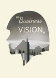 企业视觉的两次曝光 免版税库存图片