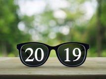 企业视觉,新年快乐2019年概念 免版税图库摄影