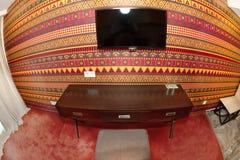 企业角落在一间风格化屋子在保加利亚语的Kranevo一家五星旅馆里 图库摄影