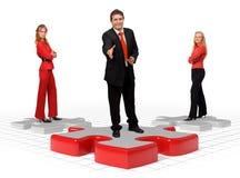 企业解决方法小组 免版税库存照片