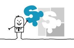 企业解决方法 库存图片