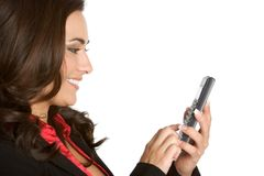 企业计算器妇女 免版税图库摄影