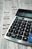 企业计算器纸张 免版税库存图片