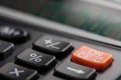 企业计算器钥匙在软的焦点 免版税库存照片