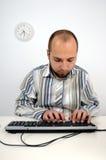 企业计算机人运作的年轻人 库存照片
