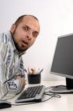 企业计算机人运作的年轻人 图库摄影