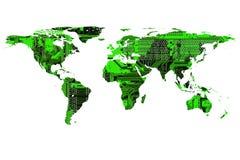 企业计算机图象映射世界 图库摄影