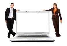 企业计算机膝上型计算机 免版税库存图片