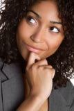 企业认为的妇女 库存图片