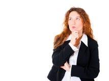 企业认为的妇女 免版税图库摄影