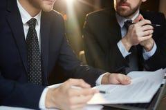 企业讨论在会议 免版税库存图片