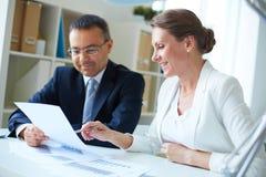 企业讨论 免版税库存图片