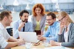 企业讨论 免版税图库摄影