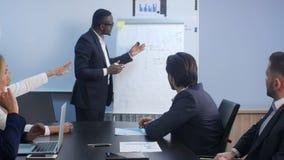 企业训练在办公室 免版税图库摄影