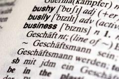 企业词典 免版税库存图片