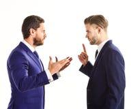 企业误解概念 商务伙伴谈论 免版税库存照片