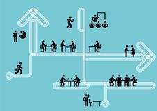 企业象信息,配合概念, 免版税库存图片