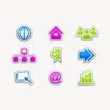 企业象按钮互联网网站集合 免版税库存照片