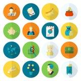 企业财务图标集 库存图片