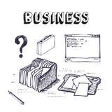 企业财务图标集 免版税库存照片