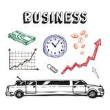 企业财务图标集 免版税图库摄影