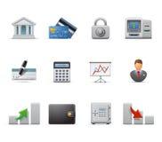 企业财务图标 库存照片