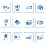 企业财务图标 免版税库存图片