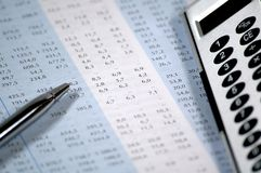 企业财务报表 免版税库存照片