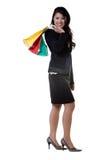 企业购物妇女 免版税库存照片