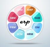 企业资源计划 企业ERP生活圈子 向量我 库存图片