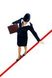 企业走的妇女年轻人 免版税库存照片