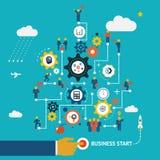 企业起动infographics 库存图片
