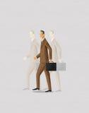企业过去和未来鬼魂  库存照片