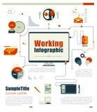 企业运作的infographics元素 也corel凹道例证向量 库存图片