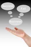 企业选择手按 免版税库存照片