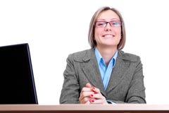 企业逗人喜爱的妇女 库存照片