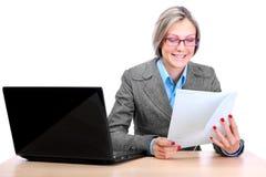 企业逗人喜爱的妇女 免版税库存图片